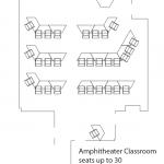 amphitheater classroom layout