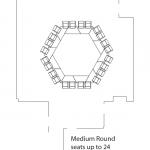 medium round seats up to 24