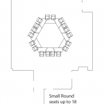 small round seats up to 18