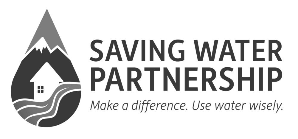 Logo: Saving Water Partnership. Make a difference. Use water wisely.
